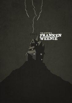 -Minimalist Tim Burton Posters- By artist HEXAGONALL. Frankenweenie