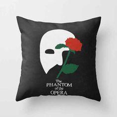 5. Phantom of the Opera Throw Pillow