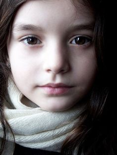 girl with white scarf