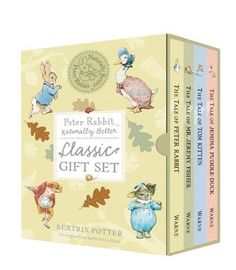 Peter Rabbit Classic Gift Set: Naturally Better (Peter Rabbit Naturally Better) by Beatrix Potter, http://www.amazon.co.uk/dp/0723264236/ref=cm_sw_r_pi_dp_Xm2Atb0FH6BA1