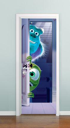Porta com profundidade ( Monstros S/A - 01) - à partir de R$ 99,00 *Solicite uma imagem para sua porta, criamos ela pra você!!!