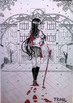 Trail by TachTan on DeviantArt Diabolik Lovers, Mood Tumblr, Ayano X Budo, Yendere Simulator, Video Game Show, Yandere Anime, Overlays Picsart, Love Sick, Tsundere