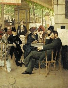 Le Cafe by Georges Croegaert