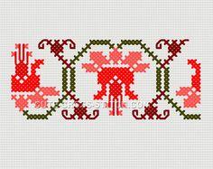 Embroidery Cross Stitch Designs 3.78 x 1.57