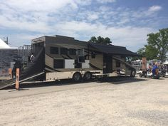 The all in one RV and horse transport is a hit at the rodeo.