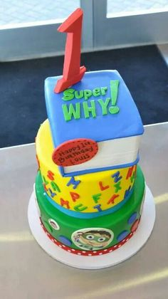 Super why cake Super Why Cake, Super Why Party, Super Why Birthday, 1st Boy Birthday, Trolls Birthday Party, Birthday Party Tables, Boy Birthday Parties, Birthday Ideas, Cakes For Boys