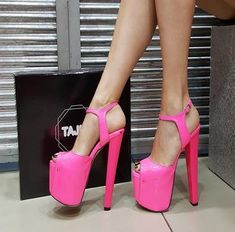 Higher, higher and higher. Stand tall while being comfortable. See our platform models that will take you up to a new level, literally! Made in Turkey. Cool High Heels, Lace Up High Heels, Super High Heels, High Heel Boots, High Platform Shoes, Platform High Heels, Leopard Heels, Pink Heels, Caged Heels