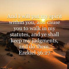 Ezekiel 36:27 KJV