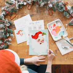 Paint your way thorugh the holidays this year. Vintage Santa is a quick and fun project using gouache. Follow the free step by step video tutorial for unique decor that will suprise even the harshest critic. Beginner friendly and fun perfect for a paint night with friends. #letsmakeart #vintagesantadecor #Christmaspainting #Santapainting #beginnergouache #freetutorial Watercolor Art Diy, Watercolor Projects, Watercolour Tutorials, Watercolor Techniques, Watercolor Paintings, Santa Paintings, Christmas Paintings, Let's Make Art, Santa Decorations