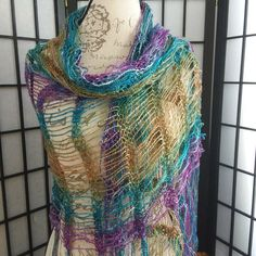 New Jewel Toned Shawl added to my shop!