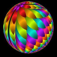 Rainbow fractal orb