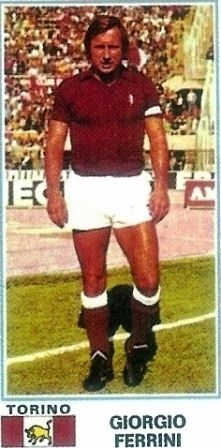 Giorgio Ferrini (18/08/1939-08/11/1976). 16 campionati - 443 partite - 43 reti. Totale 548 partite - 54 reti.