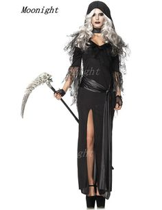New Halloween Witch Costume Devil Vampire Queen Cosplay Black Dress Cosplay Witch Uniform Halloween Costumes Alternative Measures