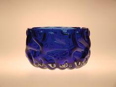 Czech Bohemian Art Glass Blue Ashtray by Pavel by VintageRetroEu