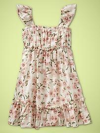gap flutter-sleeve floral dress $39.95