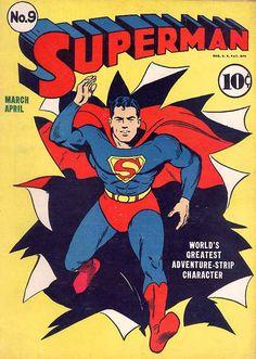 Superman #graphicdesign #popculture #comics #vintage #superman #cover