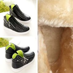 2016 Fashion Children Kids Girls Shoes Leather Rivet Zipper Boots Princess Children's Shoes S2091