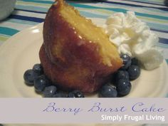 Making Frugal Living {Simply} Extravagant Aldi Recipes, Cake Recipes, Frugal Living, Berry, French Toast, Breakfast, Desserts, Food, Morning Coffee