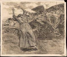 Käthe Schmidt Kollwitz - The Outbreak , from the Peasants' War series, Etching. Schmidt, Kathe Kollwitz, Social Realism, Artwork Images, Famous Art, Wood Engraving, Gravure, Sculpture, Dark Art