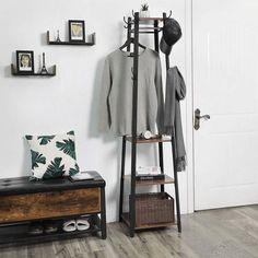 5 COAT HOOKS ENTRY WAY TOWEL BATH HALL TREE HAT VINTAGE STYLE IRON INDUSTRIAL