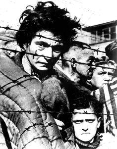 Auschwitz, Poland, 1945, Liberated prisoners.