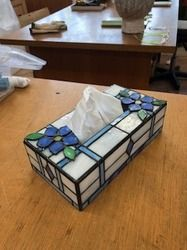 Tiffany, Glass Boxes, Tissue Boxes, Stained Glass, Cube, Furniture, Home Decor, Stained Glass Art, Glass