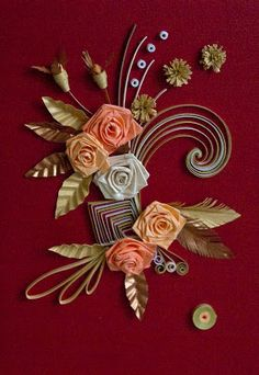 Neli Quilling Card Flowers Roses