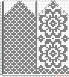 Amy Bedell's media statistics and analytics Knitting Charts, Knitting Stitches, Knitting Patterns Free, Stitch Patterns, Knitted Mittens Pattern, Knitting Socks, Crochet Chart, Filet Crochet, Rugs