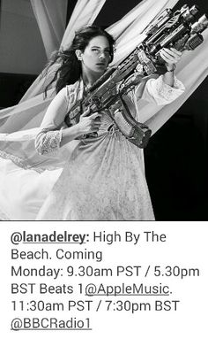 Lana Del Rey on Instagram #LDR #High_By_The_Beach