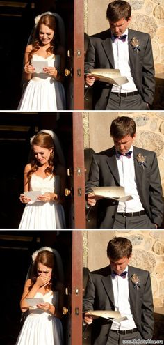 funny picture,  Reaction to love letters before the wedding: Man VS Woman