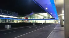 Canberra Airport at night