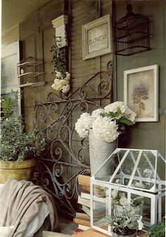 divine wall...up-cycled everything...