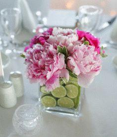 Limes in vase for decoration