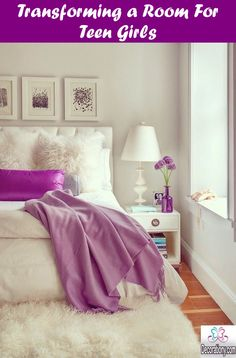 Luv the fluff and pop of purple bedroom color schemes, bedroom colors, cozy bedroom Cozy Bedroom, Dream Bedroom, Bedroom Decor, Master Bedroom, Feminine Bedroom, Bedroom Furniture, Pretty Bedroom, Stylish Bedroom, Modern Bedroom