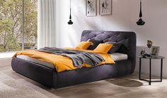 Polsterbett Dalias Bett mit Lattenrost und Bettkasten