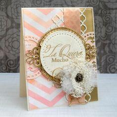 Make an ELEGANT & TRENDY handmade card! Detailed tutorial and list of supplies!!!