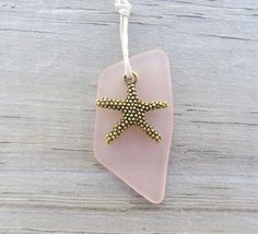 Petal Pink Sea Glass Necklace Starfish by WaveofLife on Etsy, $16.00 #RT