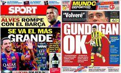 Xavi jornais Barcelona