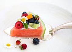 Food Inspiration, Watermelon, Panna Cotta, Fruit, Ethnic Recipes, Watermelon Pizza, Recipes, Kitchens