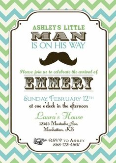 I know this is a baby shower invite but we could do something similar for the bday party!