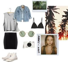 """Good Day L.A"" by mileywardrobe ❤ liked on Polyvore"
