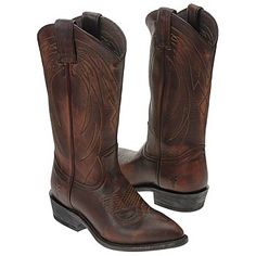 These are really pretty. I have always wanted cowboy boots. Women's Frye Billy Pull-On Dark Brown Leather