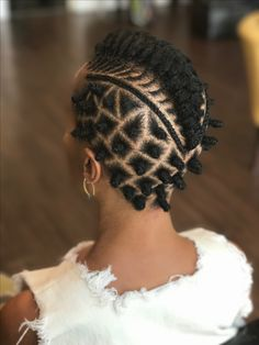 Hair by Kamala Bhagat, Richmond VA stylist. August 2017 {extend rows down the side & triangles instead of boxes} Bantu Knot Hairstyles, African Hairstyles, Braided Hairstyles, Cool Hairstyles, Braided Mohawk, Hairstyle Braid, Beautiful Hairstyles, Black Hairstyles, Wedding Hairstyles