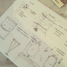 Meredith Heron Design  Design Concepts - Master Bath