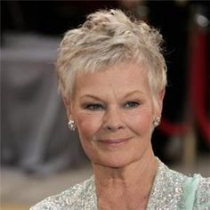 Hair style choices for the over 60 ladies.  I love the short Judi Dench style!