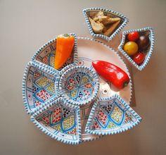 Mediterrane Tapas Schalen in blau mit tunesischem Muster / mediterranean tapas dish with tunisian pattern made by mediwo via DaWanda.com