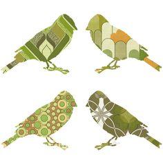 Birds Sticker- Green