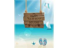 夏日旅游海报模板