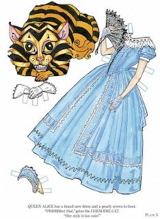 free Alice in Wonderland Paper Doll printables