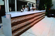 African themed event - animal print bar